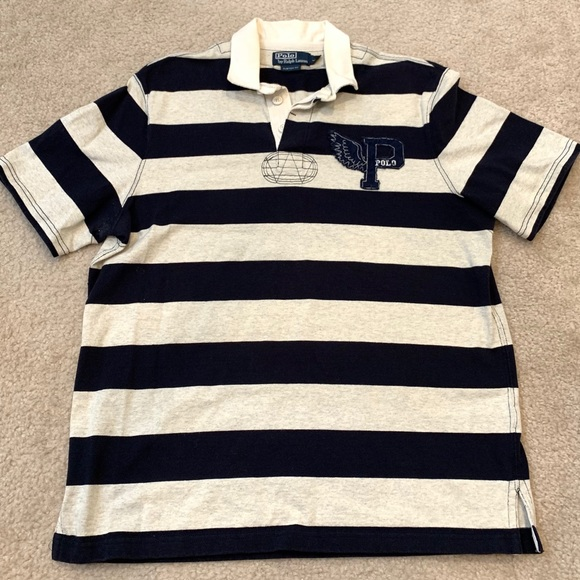 Polo by Ralph Lauren Other - Men's POLO by Ralph Lauren navy blue stripe polo L